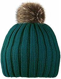 Ladies Bobble Beanie Hat Pom Winter Warm Knitted Woolen