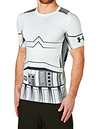 Under Armour Trooper Full Suit Comp SS Camiseta de Manga Corta, Hombre, Blanco, M