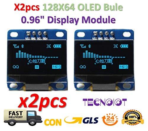 2pcs OLED 128X64 Display OLED LCD LED Display Module I2C IIC SPI Serial |  2pcs 2 4cm SSD1306 I2C IIC SPI Série 12864 - Écran LCD OLED pour Adafruit