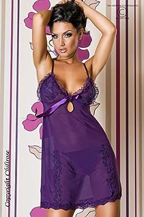 Purple Passion - Ensemble de Nuisette Sensuelle et String - Taille 36-38