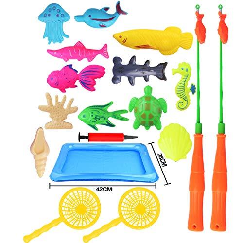 Mitlfuny Kawaii Langsam Dekompression Creme Duftenden Groß Squishy Spielzeug Squeeze Spielzeug,Magnetic Fishing Toys Spiel für Kinder Bathtime Pool Party Kunststoff schwimmende Fische