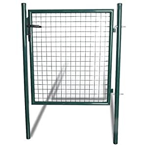 vidaXL Cancello in acciaio verde