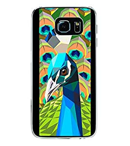 Beautiful Peacock 2D Hard Polycarbonate Designer Back Case Cover for Samsung Galaxy S6 G920I :: Samsung Galaxy G9200 G9208 G9208/SS G9209 G920A G920F G920FD G920S G920T