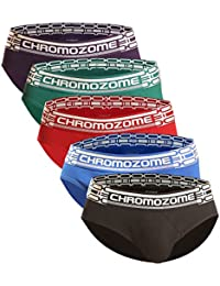 Chromozome Men's Solid Brief (Pack of 5)