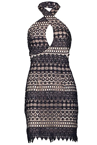 Marine Hommes Boutique Sore Crochet Lace Bodycon Robe Marine