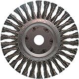 Ironside 243002 Scheibenbürste 178mm/22,2 gezopft, für Winkelschleifer