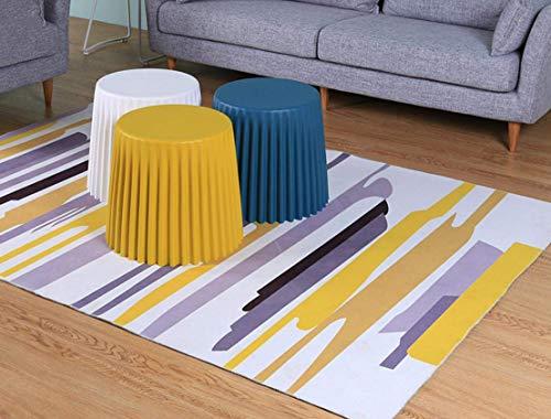 DEED Startseite Stuhl Hocker Klappstuhl-Runde Kunststoff Stapelhocker Schachtelhocker Spa Duschsitz Ideal für Töpfchen Kleine Tritthocker Stuhl Moderne Hocker für Schlafzimmer Wohnzimmer Badezimmer S
