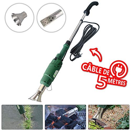 Elektrischer Unkrautbrenner | Elektro-Unkrautvernichter | Thermal Jäten Stick-up bis 650 Grad Weader Tool für Garten, Terrasse, Auffahrt