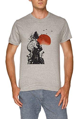 Alans Kater Herren Grau T-Shirt Größe XXL | Men's Grey T-Shirt Size XXL