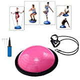 Baumarktplus Yoga Gymnastik Balance Half Ball Trainingsball Pink Blau Lila (Pink)