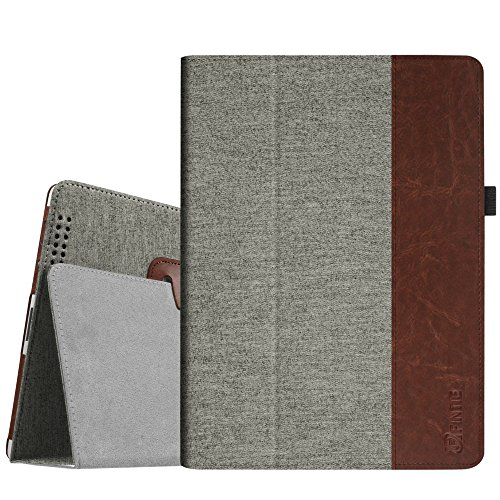 Fintie iPad 2/3 / 4 Hülle Case - Folio Slim Fit Stoff Schutzhülle Cover Tasche Etui mit Auto Schlaf/Wach Funktion für Apple iPad 2 / iPad 3 / iPad 4, Denim grau (Cover 4th Ipod Generation)