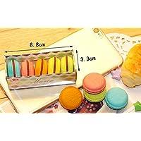 Preisvergleich für Tery Geschenk Sparschwein 5 Teile / Satz Candy Kuchen Radiergummi Macarons Sandwich Kekse Geformte Radiergummis