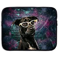ASKSWF bolsa de ordenador portátil Laptop Sleeve Case Protective Bag Galaxy Glasses Dog Printed Ultrabook Briefcase
