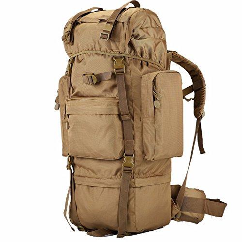 Bergsteigen Taschen für Männer und Frauen schulter Rucksack reisen, doppelte Schulter Taschen Outdoor übergroße Berg Reisetaschen große Kapazität Rucksack 70 L 42 * 20 * 75 cm, Army Green 70 Wüste 70 L