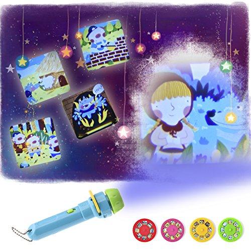 enlampe mit Knopf Batterien Toys Thema Bilder Bedtime Kinder Projektion Taschenlampe Licht mit Designs Geschenk Kinder Kleinkinder Luminous Animal zeigen, Früherziehung Kleinkinder Spielzeug Baby (Kleinkind Themen Geburtstag Junge)