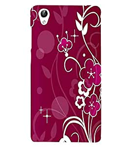 For Vivo Y51 :: Vivo Y51L Flower Pattern, Blue, Great Pattern, Beautiful Pattern, Printed Designer Back Case Cover By CHAPLOOS
