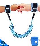 Emwel, Kinder-Sicherheitsleine für das Handgelenk, 1,5m lang, verstellbar und weich, blau