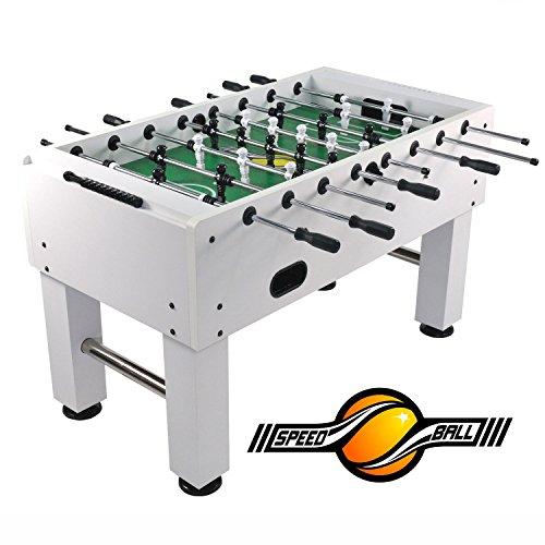 Speedball Tischkicker Premium Kickertisch in Profi Turnier Ausführung - Limited Weiß
