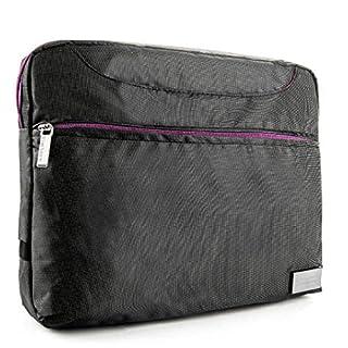 Für Acer 25,4cm Tablet, Vangoddy Tablets Nineo Messenger Bag geeignet für Laptops/Tablets von 20,3–25,7cm (grau/lila)