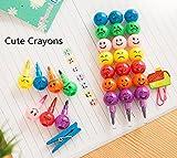 LUCKYCAT,prime day amazon 7 sortes Couleur Mignon Empileur Échange Sourire visage Crayon Enfant Dessin Cadeau (Multicolore)