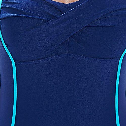 "Zoggs, Costume da bagno intero Donna Ocean Jewel Twist Bootysuit, Blu (Navy/Blue), 46""/taglia 22 UK Blu (Navy/Blue)"