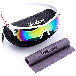Oferta Del Día - Verdster Tourdepro Gafas De Sol Para Hombres Y Mujeres - Deportivo Gafas - Protección Uv Shades - Unbreakable Marco - Pack De Equipo - Gran Para El Ciclismo, Conducción, Correr, Ciclismo, Esquí, Snowboard