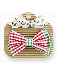 Mud Pie Red/Green Gingham Bow Tie