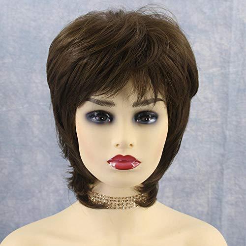 e Perücke mit Pony Frauen Cosplay Party Halloween Kostüm Weiche Synthetische Spitze Volle Perücke mit Free Stretchable Haarnetz ()