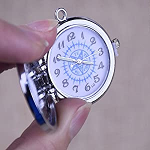 ZHEBAO Pocket Watch Anime Peripheren Black Butler Anhänger Halskette (Silber)