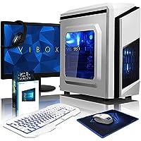 """VIBOX Killstreak LA4-292 Gaming PC Ordenador de sobremesa con Cupón de juego, Windows 10 OS, 22"""" HD Monitor (4,1GHz AMD A6 Dual-Core Procesador, Radeon 8470D Gráficos Chip, 8GB RAM, 1TB HDD)"""