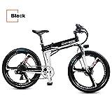 7 Speed, 48V 10AH, 250W, 26', Electric Bicycle, Electric Bike, Mountain Bike, Folding E Bike (BLACK)