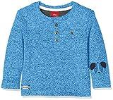 s.Oliver Baby-Jungen Langarmshirt 65.809.31.8142, Blau (Blue Melange 55w6), 86