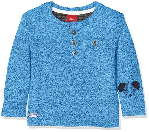 s.Oliver Baby-Jungen 65.809.31.8142 Langarmshirt, Blau (Blue Melange 55w6), 92 -