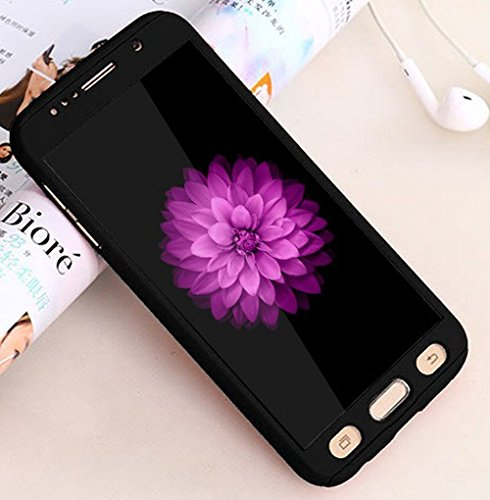 Vivo V5 Back Cover, Johra High Quality Full Body Front & Back 360 Protective Black Body Case Cover For Vivo V5 Ipaky Back Cover