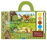"""Wasserfarbenmalset """"Pettersson & Findus"""": Set aus 1 Pinsel, 1 Farbkasten mit 6 Wasserfarben, 1 Malbuch und viele Sticker"""