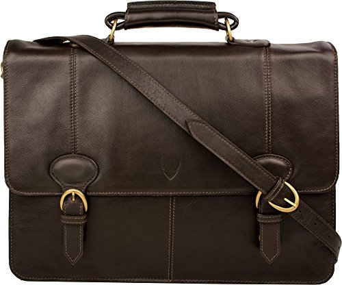 71b8d88c4620 Hidesign  Parker 3  - 2 Gusset Leather Briefcase - Brown