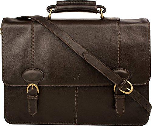 71b8d88c4620 Hidesign  Parker 3  - 2 Gusset Leather Briefcase - Brown