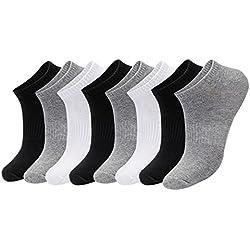 Aibrou Calcetines de Deporte de 90% algodón,Suave,Cómodo y Respirable del tejido absorbe el sudor,Pack de 6,Unisex