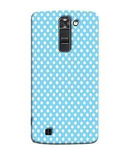 PrintVisa Designer Back Case Cover for LG K7 :: LG K7 Dual SIM :: LG K7 X 210 X210DS MS330 :: LG Tribute 5 LS675 (Polka Dots Dotted Net Print Texture)