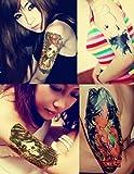 Dalin 4 Sheets Fashion Temporary Tattoo, Audrey Hepburn, Sexy Lady
