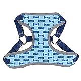 Jamisonme Verstellbarer weicher LED-Hundegeschirr Haustiere Kontrolle Atmungsaktiv Brustgurt Weste Geschirr (Blau)