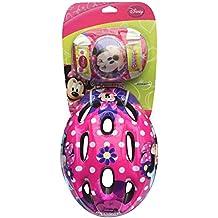 Minnie Bow-Tique K863506 - Casco, coderas y rodilleras infantiles, diseño de Minnie