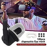 Anivia 100 pezzi maschera gli occhi usa e getta VR, maschera il trucco dell'igiene occhio di cotone puro maschera il viso VR Oculus Quest/Rift CV1 / Rift S/HTC Vive Pro delightful efficient