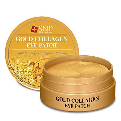 SNP Shining Nature Purity Schwarze Perle Augenklappe zum Erneuern, Vitalisieren und Aufhellen der Haut 60 Patches Goldkollagen