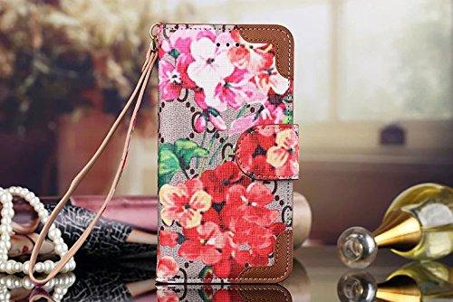 Für Samsung Galaxy Note S 56789Edge + Plus Luxus berühmten Bifold Paket Clip Grid Leder Cash Slot Brieftasche Schutzhülle für Damen Herren Junge Mädchen lv99 for samsung galaxy S8 Grid Black -