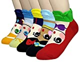 JJMax Mujeres Princesa calcetines: Elsa, Anna, Ariel, Blanca Nieves, Jasmine