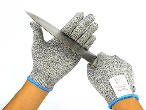 UncleHu Schnittschutzhandschuhe – Küchensicherheit Handschuhe – Hochwertige Performance Statistik EN388 Slash CE Level 5 – Waschbar und für Lebensmittel geeignet, Gute Multitasking Arbeitshandschuhe M