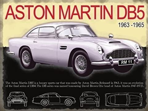 Aston Martin DB5 in silver. 1960's iconic car and film