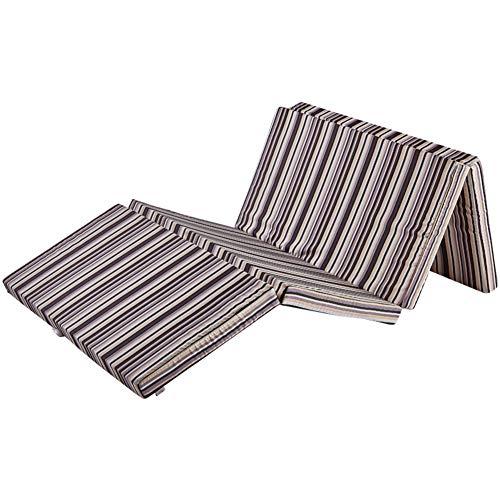 WJH Vier klappen Tatami Matte, Matratzenauflage Topper, Folding Atmungsaktive Single Reversible Dick Memory-Schaum Schlafen pad Anti-milben Wohnheim-A 100x190x5cm(39x75x2inch) -