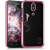 kwmobile Elegante y ligera funda Crystal Case Diseño hada para Huawei Y625 en rosa fucsia transparente